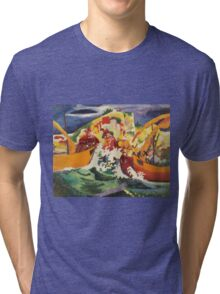 Vintage famous art - August Macke - Native Sea Fight Tri-blend T-Shirt