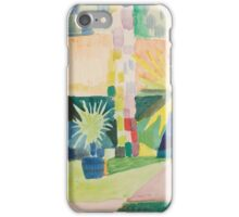 Vintage famous art - August Macke - Garden On Lake Thun (Pomegranate Tree And Palm In The Garden) iPhone Case/Skin