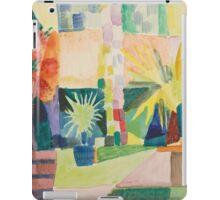 Vintage famous art - August Macke - Garden On Lake Thun (Pomegranate Tree And Palm In The Garden) iPad Case/Skin