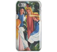 Vintage famous art - August Macke - Four Girls iPhone Case/Skin