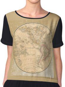 Antique Map Western Hemisphere Chiffon Top