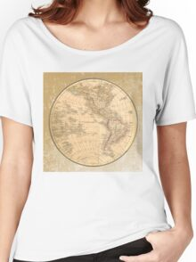 Antique Map Western Hemisphere Women's Relaxed Fit T-Shirt