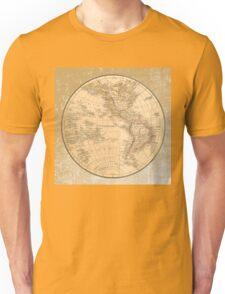 Antique Map Western Hemisphere Unisex T-Shirt