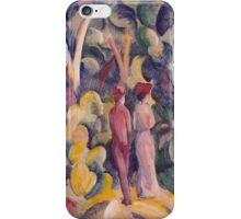 Vintage famous art - August Macke - Couple On The Forest Track iPhone Case/Skin