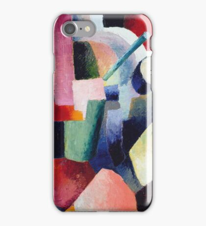 Vintage famous art - August Macke - Colored Composition Of Forms iPhone Case/Skin