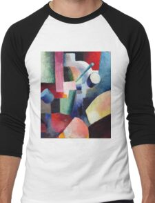 Vintage famous art - August Macke - Colored Composition Of Forms Men's Baseball ¾ T-Shirt