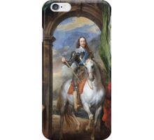 Vintage famous art - Anthony Van Dyck - Charles I With Monsieur De St Antoine iPhone Case/Skin