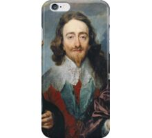 Vintage famous art - Anthony Van Dyck - Charles I iPhone Case/Skin