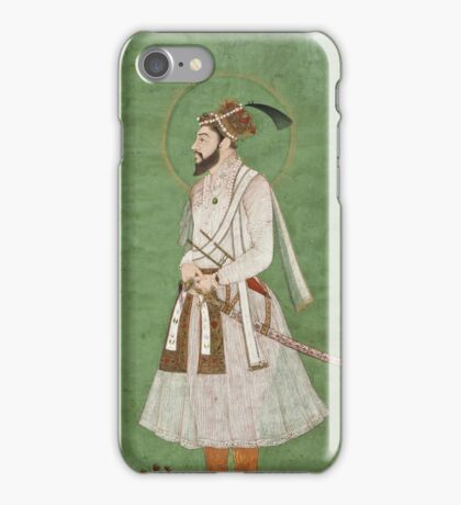 Vintage famous art - Anonymous - Portrait Of A Mughal Prince Possibly A Copy Of A Portrait Of Sultan Shuja (1616-1659) iPhone Case/Skin