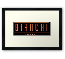 Bianchi Vintage Bicycles Italy Framed Print