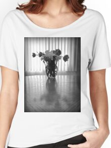 Tulips & Daffodils in Black & White Women's Relaxed Fit T-Shirt