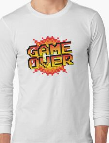 pixel game over  Long Sleeve T-Shirt