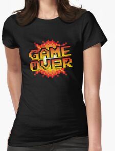 pixel game over  Womens Fitted T-Shirt