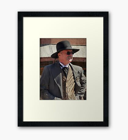 Tombstone Lawman Framed Print