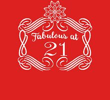 Fabulous at 21 21st Birthday  Women's Fitted V-Neck T-Shirt