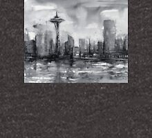 Seattle Skyline Painting Watercolor Unisex T-Shirt