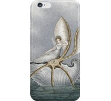 Vintage famous art - Amelia Jane Murray  - A Fairy Resting On A Shell iPhone Case/Skin