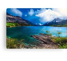Waterton on the Water Canvas Print