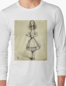 Vintage famous art - Alice In Wonderland - Curiouser And Curiouser Long Sleeve T-Shirt