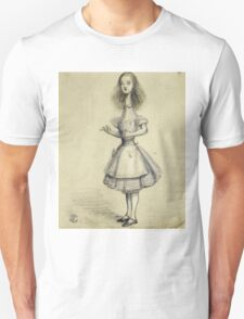 Vintage famous art - Alice In Wonderland - Curiouser And Curiouser Unisex T-Shirt