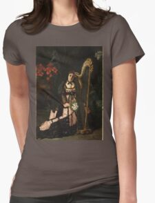 Vintage famous art - Alfred Stevens  - A Musician 1868 Womens Fitted T-Shirt