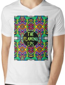 The Flaming Lips - Psychedelic Pattern 1 Mens V-Neck T-Shirt