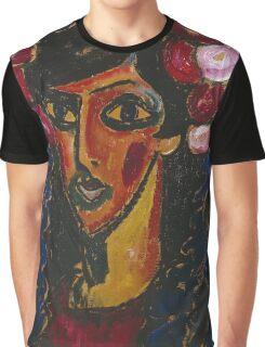 Vintage famous art - Alexei Jawlensky  - The Blue Mantilla 1913 Graphic T-Shirt