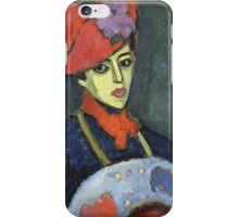 Vintage famous art - Alexei Jawlensky  - Schokko With Red Hat iPhone Case/Skin