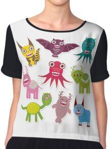 Funny monsters Chiffon Top