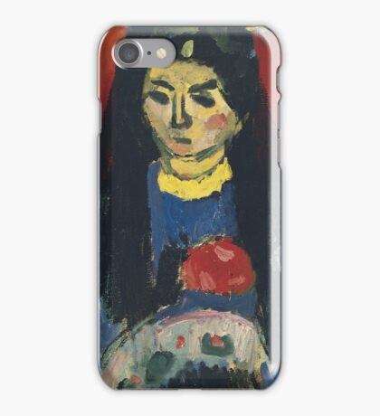 Vintage famous art - Alexei Jawlensky  - Red Blossom iPhone Case/Skin