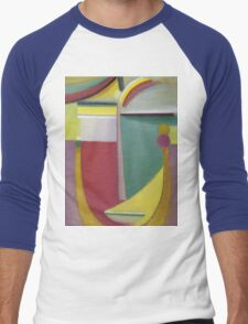 Vintage famous art - Alexei Jawlensky  - Abstract Head Inner Vision Men's Baseball ¾ T-Shirt