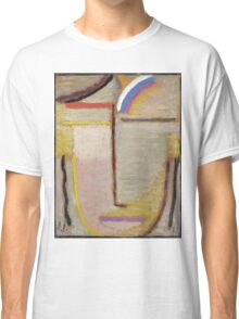 Vintage famous art - Alexei Jawlensky  - Abstract Head Composition No 2  Winter  Classic T-Shirt