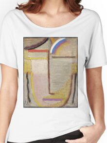 Vintage famous art - Alexei Jawlensky  - Abstract Head Composition No 2  Winter  Women's Relaxed Fit T-Shirt