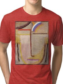 Vintage famous art - Alexei Jawlensky  - Abstract Head Composition No 2  Winter  Tri-blend T-Shirt