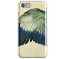 Vintage famous art - Albrecht Durer - Wing Of A Blue Roller iPhone Case/Skin