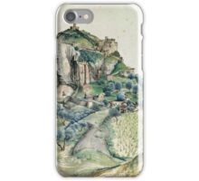 Vintage famous art - Albrecht Durer - View Of The Arco Valley In The Tyrol iPhone Case/Skin
