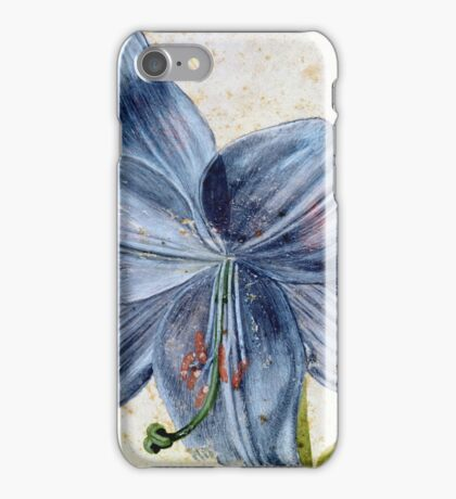 Vintage famous art - Albrecht Durer - Study Of A Lily iPhone Case/Skin