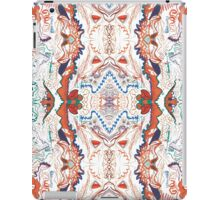 Abstract Marker Pattern - White & Orange iPad Case/Skin