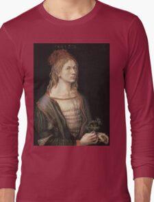 Vintage famous art - Albrecht Durer - Autoportrait 1493 Long Sleeve T-Shirt