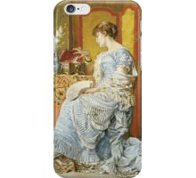 Agapit Stevens - Indecision. Woman portrait: sensual woman, femine, memories, memory, dream, doubt, sorrow, jewelry, gifts, beautiful dress, tenderness iPhone Case/Skin