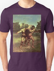 Vintage famous art - Gustave Courbet - The Wrestlers Unisex T-Shirt