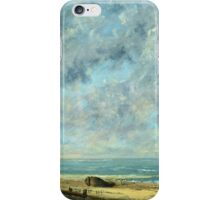 Vintage famous art - Gustave Courbet - The Sea iPhone Case/Skin