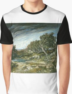 Vintage famous art - Gustave Courbet - The Gust Of Wind,  1865 Graphic T-Shirt