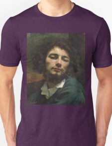 Vintage famous art - Gustave Courbet - Self Portrait Or, The Man With A Pipe Unisex T-Shirt
