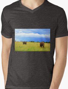 African Elephants Mens V-Neck T-Shirt