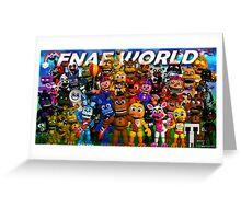FNaF World - Update 2 Greeting Card