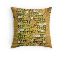 Gustav Klimt - Tree Of Life - Gustav Klimt  -Life - Tree Throw Pillow
