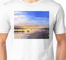 Sunset Watercolor Painting Unisex T-Shirt
