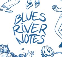 Blues River Notes Sticker