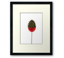 Lollicacti (Lollipop cactus) Framed Print
